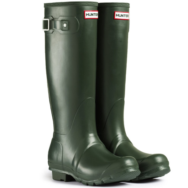 Women's Hunter Boots Original Tall Snow Rain Waterproof Boots - Dark Olive - 5
