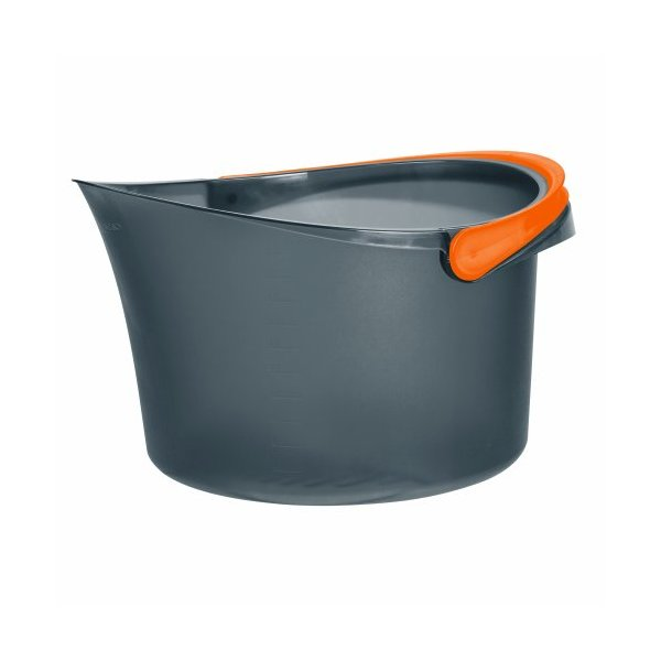 Casabella 1 Count Bucket, 2.5-Gallon, Graphite/Orange