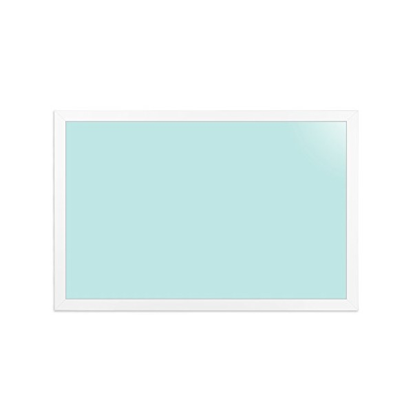Eco-friendly magnetic 47.2 x 31.5 Inch Mango Wood Framed Color Dry Erase Board with Pocket & Magnets (Sky Blue)
