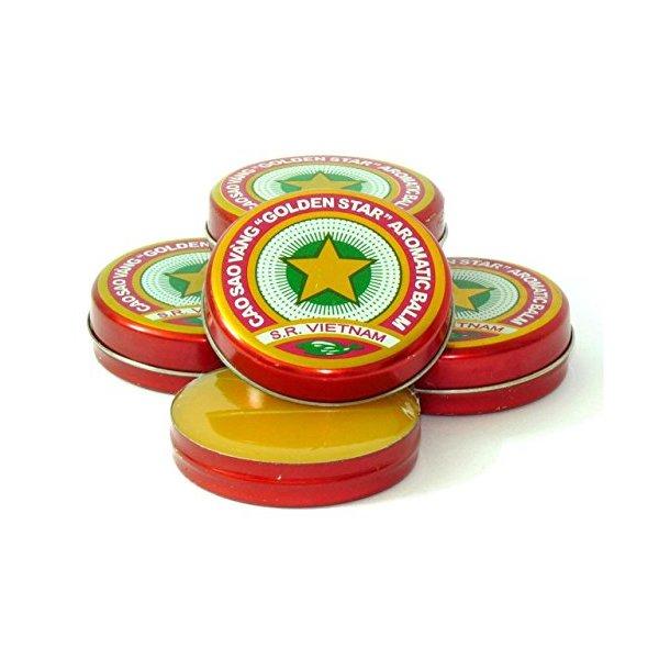 Golden Star Balm, Cao Sao Vang Vietnam, 08 Boxes X 3g, Aromatic Balsam