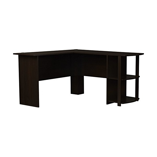 Ameriwood Office L-Shaped Desk with 2 Shelves 9354303PCOM, Dark Cherry