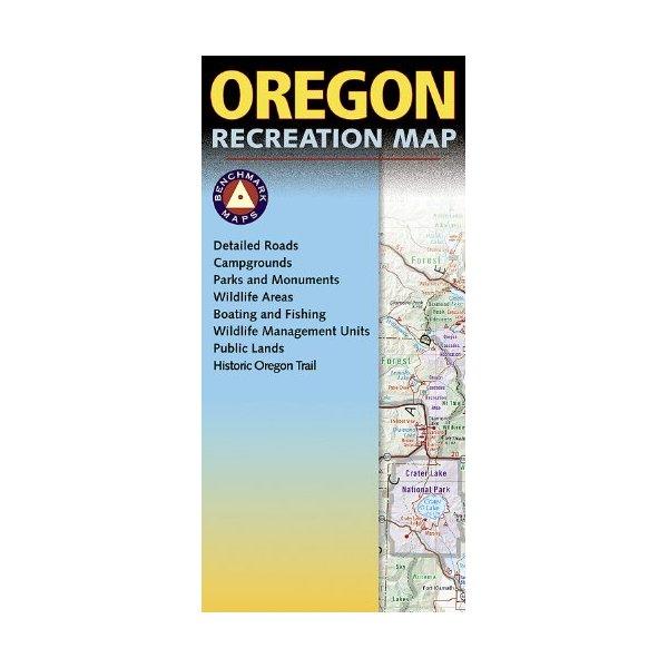 Oregon Recreation Map (Benchmark Maps)