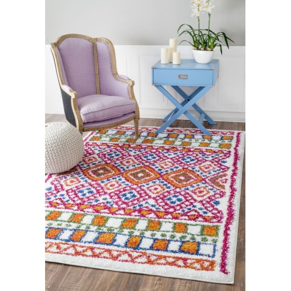 "Soft and Plush Multi Kids Shag Multi Rug, (5' 3"" x 7' 8"")"