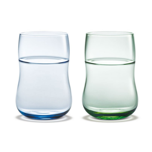 Holmegaard Future Glass Blue and Green, 2 Pack