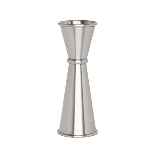 HIC Japanese-Style Double Cocktail Jigger, 18/8 Stainless Steel, 4.75-Inches, 0.5-Ounce to 2-Ounce