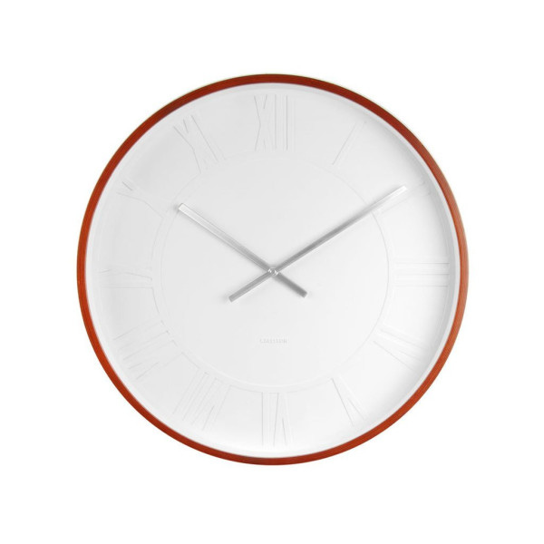 Present Time Karlsson Mr. White Roman Numbers Wall Clock