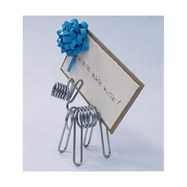 D'terrier Note Holder (blue mini bow)