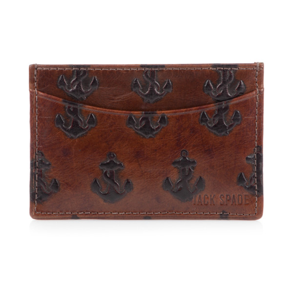 Jack Spade Men's Embossed Anchor Bill Flap Wallet
