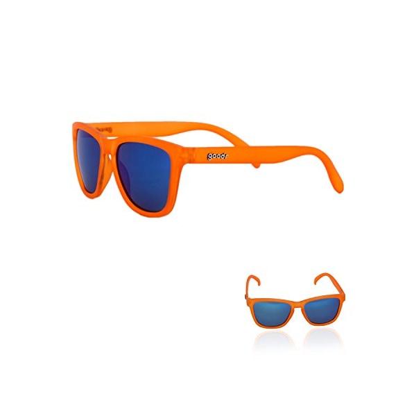 goodr RUNNING SUNGLASSES - No Slip, No Bounce, UV Polarized (Orange)