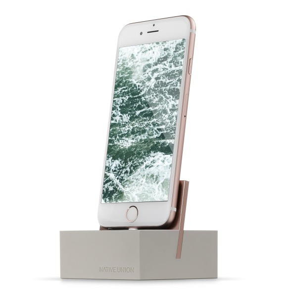 Native Union DOCK for iPhone or iPad, Stone/Rose Gold