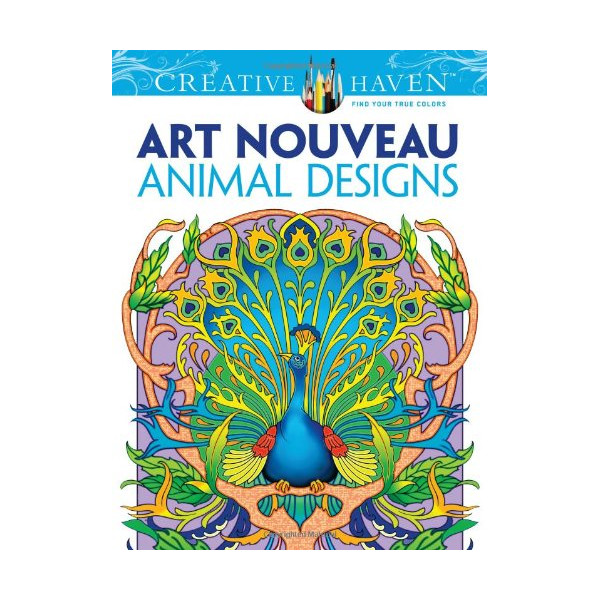 Creative Haven Art Nouveau Animal Designs Coloring Book (Creative Haven Coloring Books)