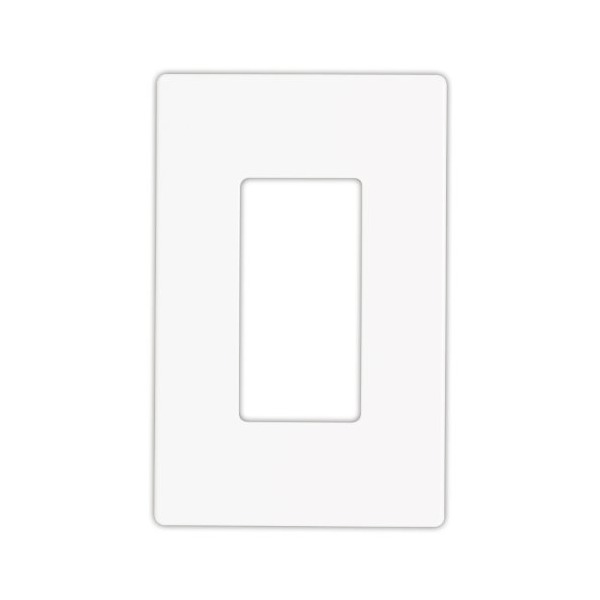 Cooper Wiring Devices 9521WS Aspire Screwless Wallplate, 1-Gang, White Satin