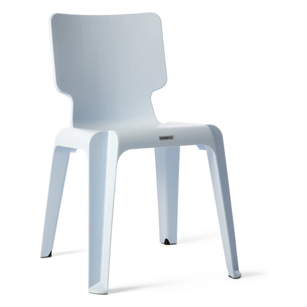 Authentics Wait Plastic Chair, Light Blue
