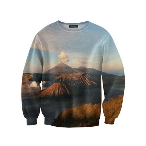 Quiet Volcano Landscape Art Print Sweatshirt