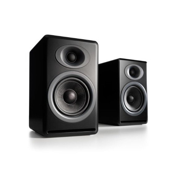 Audioengine P4 Premium Passive Bookshelf Speaker Pair (Black)