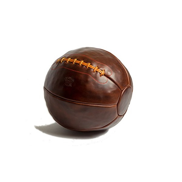 Brown Chromexcel Leather Head 12Lb Medicine Ball Mb-12-Cxl
