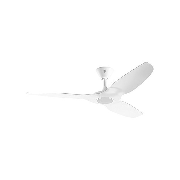 Haiku Home L Series 52-inch Indoor/Outdoor Wi-Fi Enabled White Ceiling Fan with LED Light, Works with Alexa