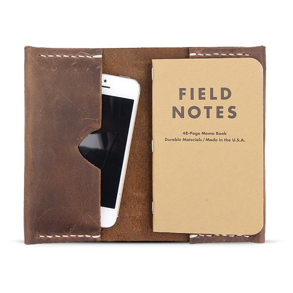 Field Notes Brown Leather Notebook Cover