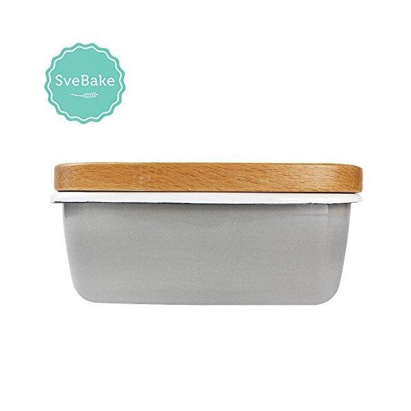 SveBake Enamel Butter Dishes Butter Boat Grey