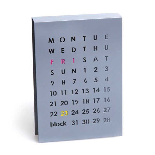 Block Perpetual Calendar, Grey
