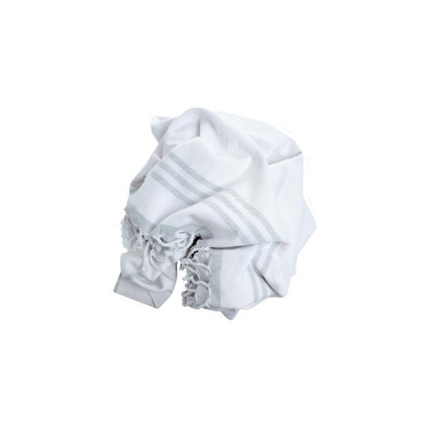 Pestemal Turkish Bath Towel by Cacala, Silver Grey