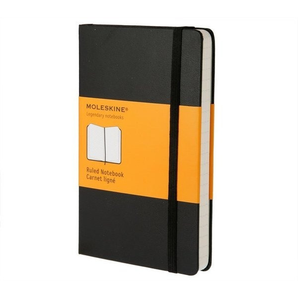 Moleskine Classic Notebook, Ruled, 5 x 8.25 inches