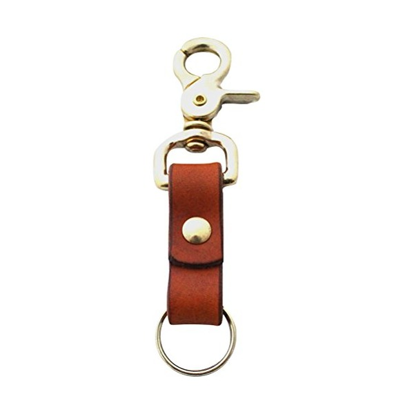Scoutmob Features The Cascade Leather Key Ring One Size Tan