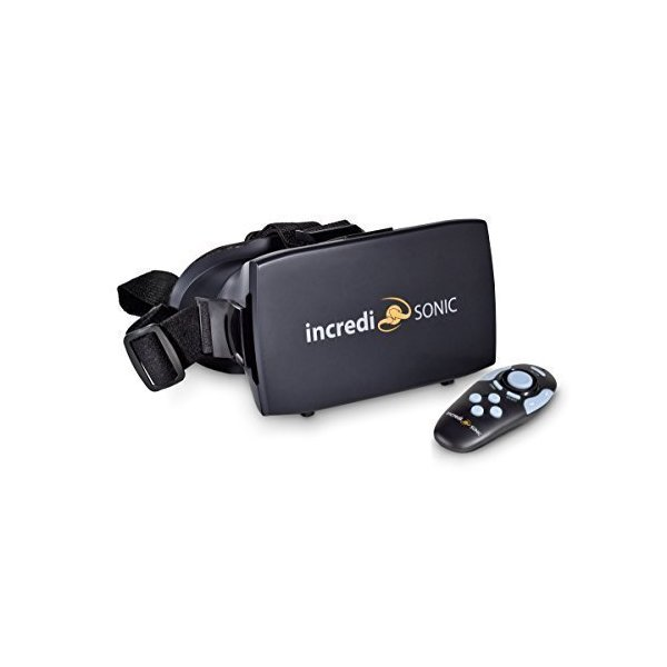 IncrediSonic M700 VUE Series VR Glasses, Virtual Reality Headset, & Bluetooth Remote Gaming Controller, (Black)