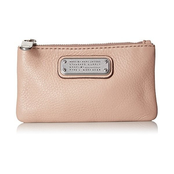 Marc by Marc Jacobs New Q Key Pouch Coin Purse, Cameo Nude, One Size