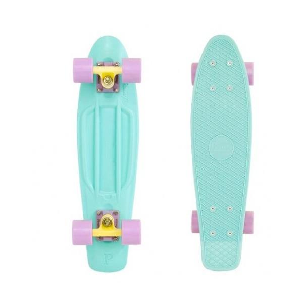 Penny Pastel Complete Skateboard, 22-Inch, Mint/Lemon/Lilac