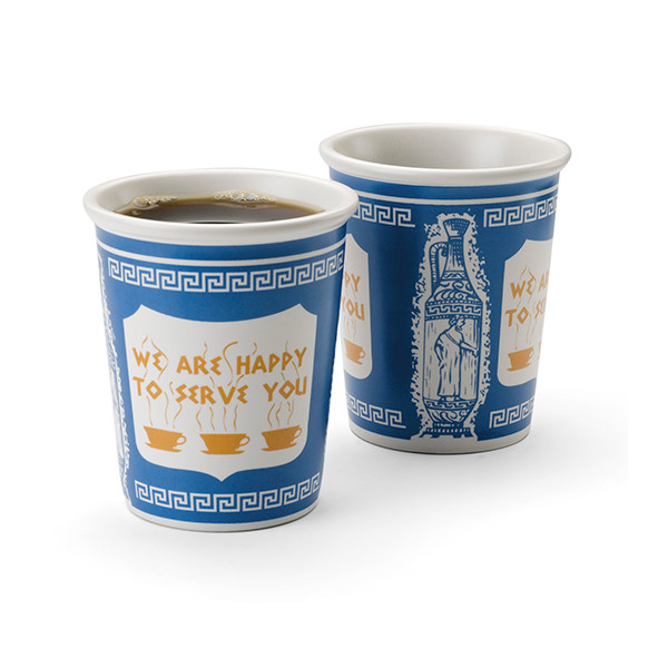 NY Coffee Cup, 50 paper cups with lids