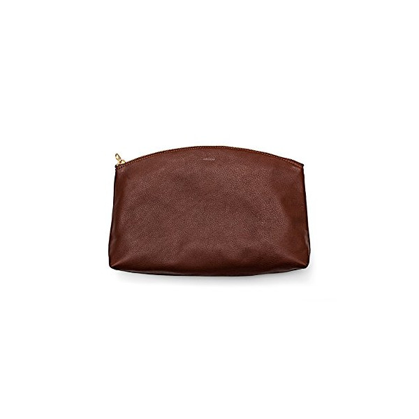 BAGGU Leather Clutch - Molasses