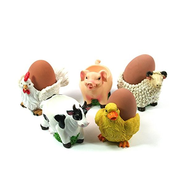 Novelty Animal Farmyard Egg Cups (Chicken)