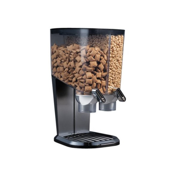 Rosseto EZ-SERV100 2-1/5-Gallon Cereal-and-Snack Dispenser, Black and Chrome