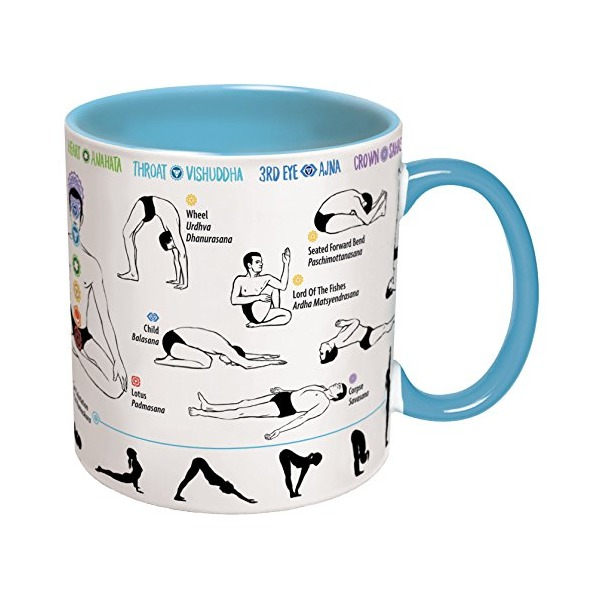 How To Do Yoga Mug - Includes Yoga Mat Coaster - Shows Yoga Poses