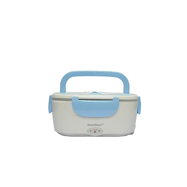 EtechMart (TM) 110V-220V Electric Heating Lunch Box Meal Heater Personal Food Warmerfor Take-out Blue