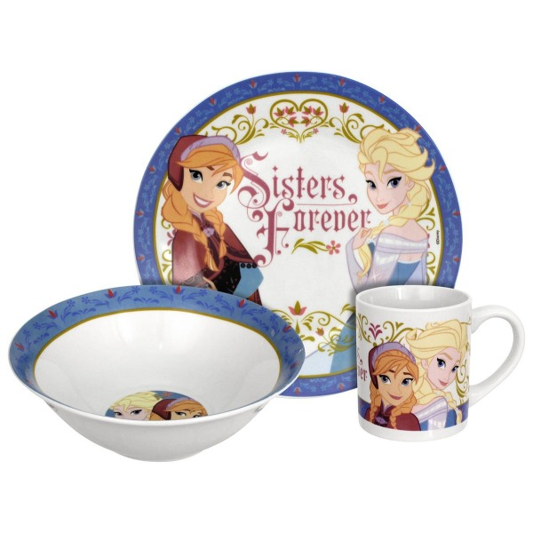 Disney Frozen Sisters Forever 3-Piece Dinnerware Set