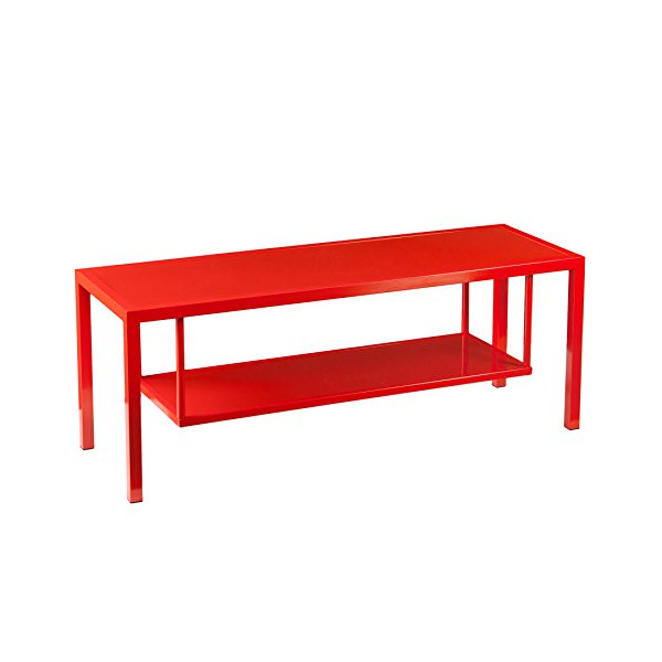 Holly and Martin Maians Media Console, Red-Orange