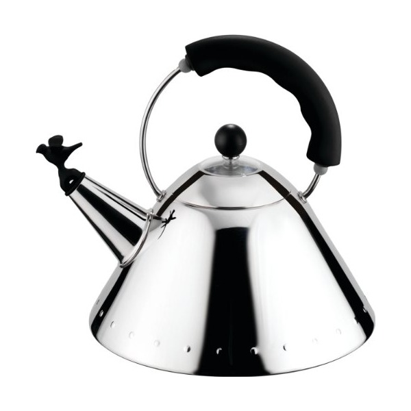 Alessi Michael Graves Kettle With Bird Shaped Whistle Black