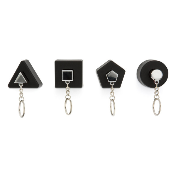 j-me Shapes Key Holders, Black