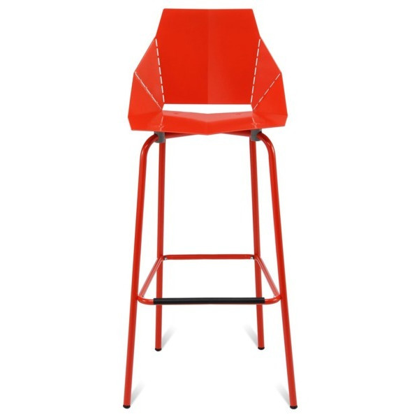 Blu Dot Real Good Barstool, Red