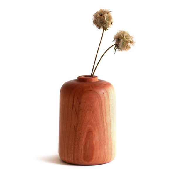 Scoutmob Home Cherry Wood Bud Vase