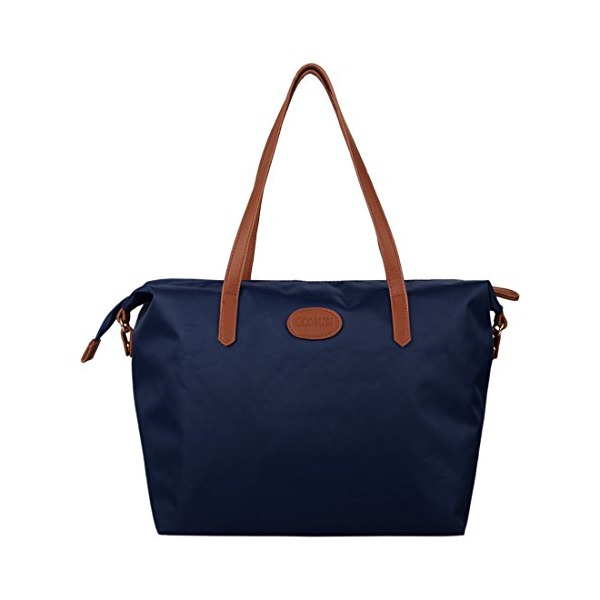 Ecosusi Fashion Water Repellent Nylon Tote Shoulder Beach Bag Blue