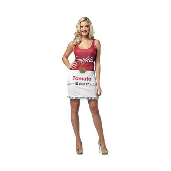 Rasta Imposta Campbell's Tomato Soup Can Tank Dress, Red/White, Adult 4-10