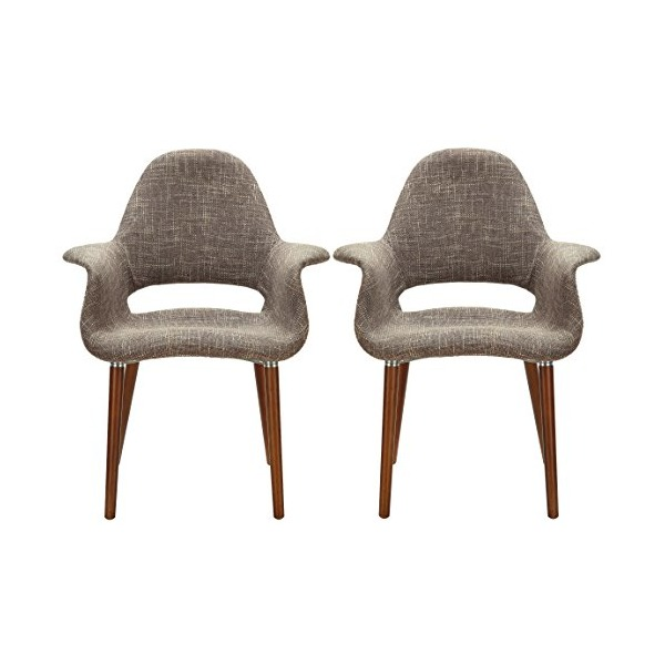 Poly and Bark Organic Armchair, Taupe, Set of 2