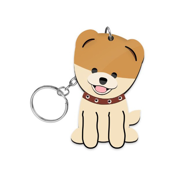FouFou Dog Love Your Breed Acrylic Keychain, Boo The World's Cutest Dog