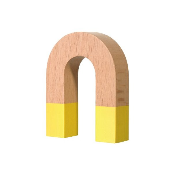 Areaware Horseshoe Magnet, Yellow