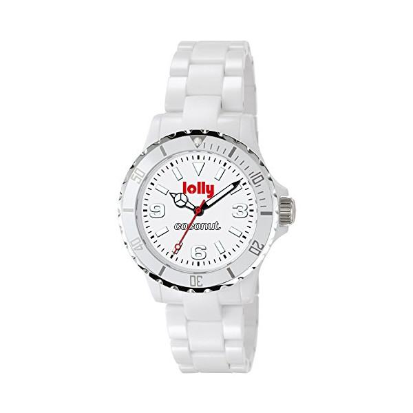 lolly Japanese Quartz Boyfriend White Dial Women's Watch