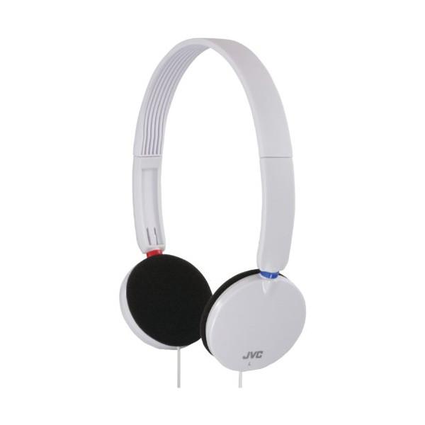 JVC HAS140W High Quality Flat Foldable Headphones