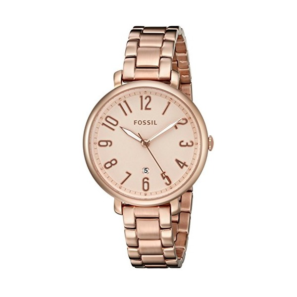 Fossil Women's ES3970 Jacqueline Date Rose-Tone Stainless Steel Watch